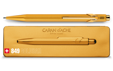 Caran D'Ache Ballpoint Pen Gold Bar