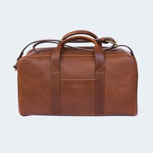 Leather Duffle Small Brown