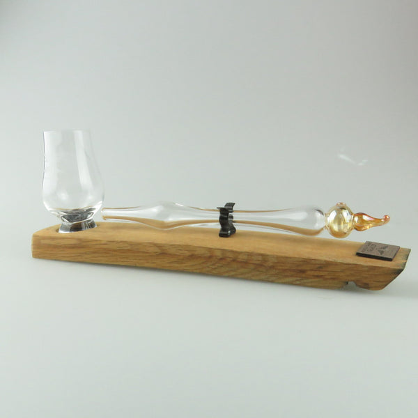 Angel's Share Whisky Dropper Set & Mini Glencairn Glass with pot set topper