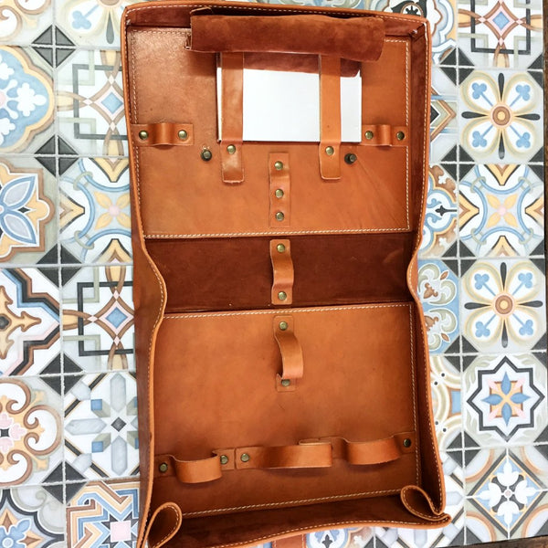Italian Leather Barber Box Large