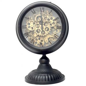 Ingraham Exposed Gear Round Clock