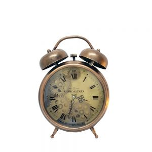 Newton Bell Bedside Clock Copper