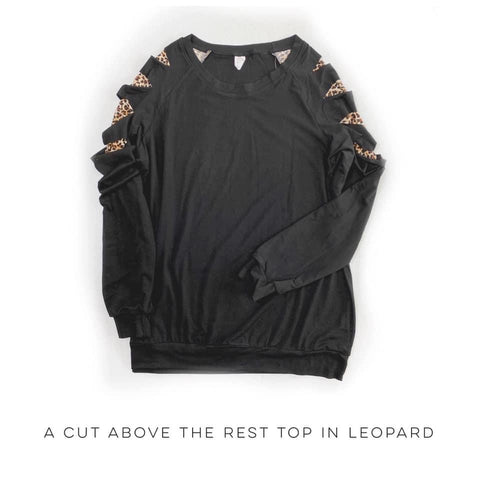 A Cut Above the Rest Top in Leopard