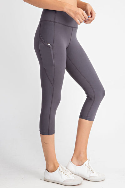 Made to Move Capri Leggings in Charcoal