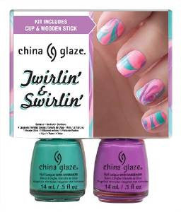 China Glaze Twirling and Swirling Nail Lacquers Kit 2 oz