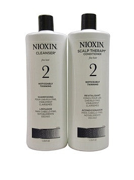 Nioxin System 2 Cleanser and Scalp Therapy Conditioner Duo Nioxin, 10.1 Ounces