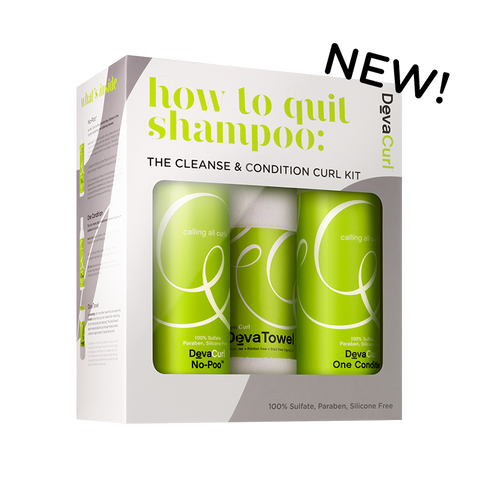 DevaCurl How To Quit Shampoo: Cleanse & Condition Starter Kit