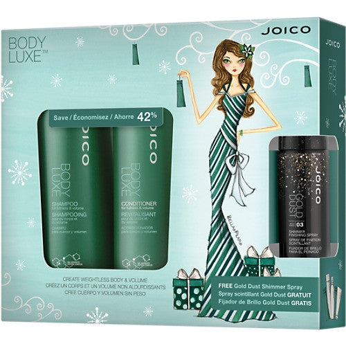 JOICO Body Lux Holiday Duo with Gold Dust Shimmer Spray