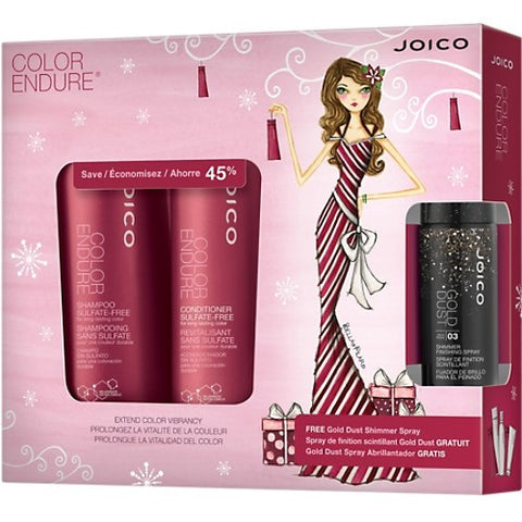 JOICO Color Endure Holiday Duo with Gold Dust Shimmer Spray