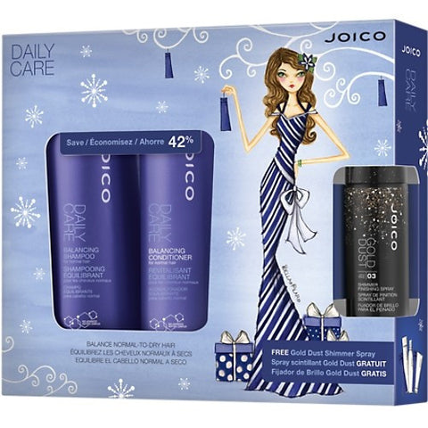 JOICO Daily Care Holiday Duo with Gold Dust Shimmer Spray