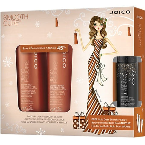 JOICO Smooth Cure Holiday Duo with Gold Dust Shimmer Spray