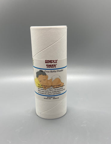 "Simply Baby ""Talc Free"" Powder - Naturally For You Bath n Body"