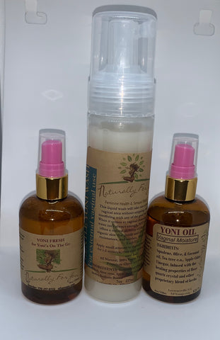 Yoni Wash Oil & Fresh Combo - Naturally For You Bath and Body