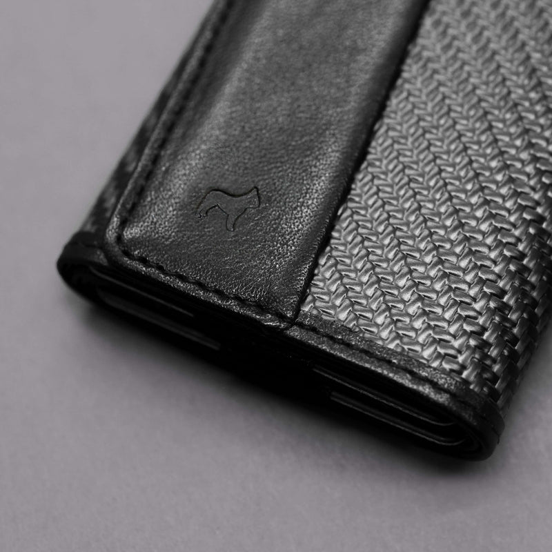 Carbon Fiber Speed Wallet Mini Black Detail