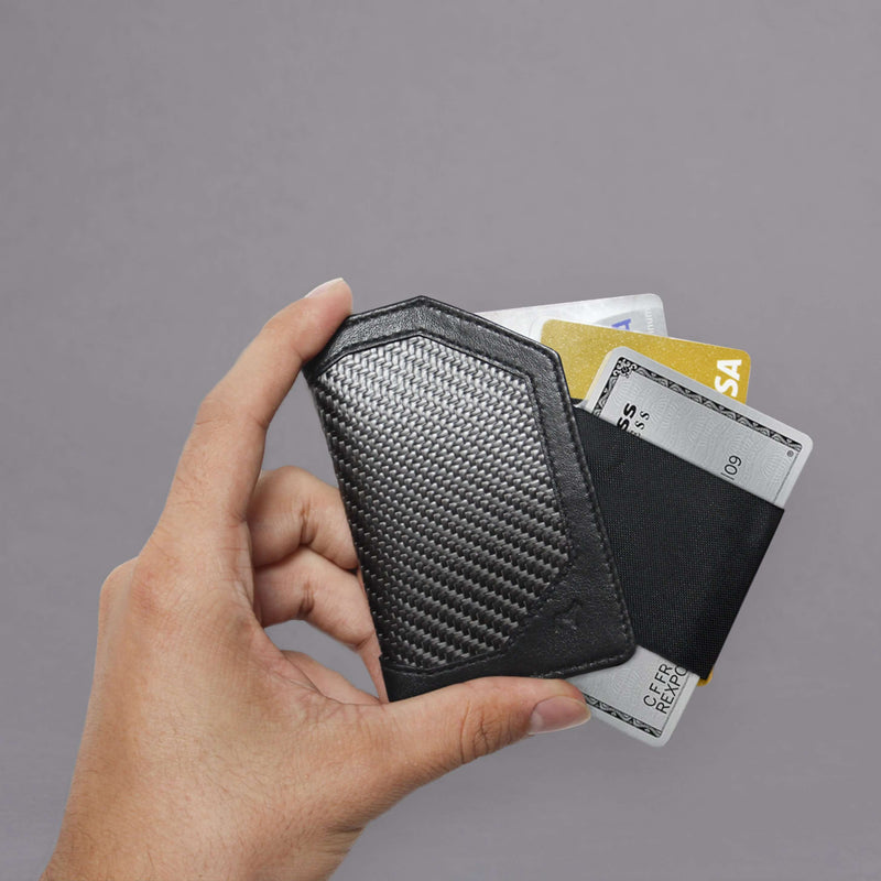 Carbon Fiber Speed Card Holder 2.0 on hand