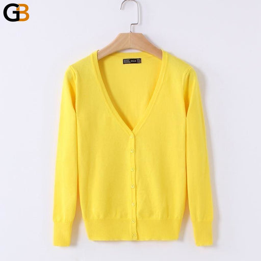 V-Neck Long Sleeve Crochet Knitted Casual Cardigan Coat Sweater for Women - SolaceConnect.com