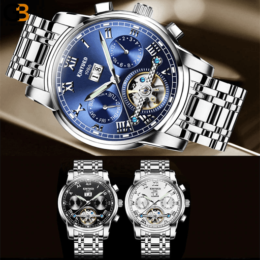 Men's Luxury Automatic Mechanical Stainless Steel Sapphire Watches - SolaceConnect.com