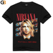Summer Unisex Funny Rock Band Nirvana Print O-neck Short Sleeve T-shirt - SolaceConnect.com