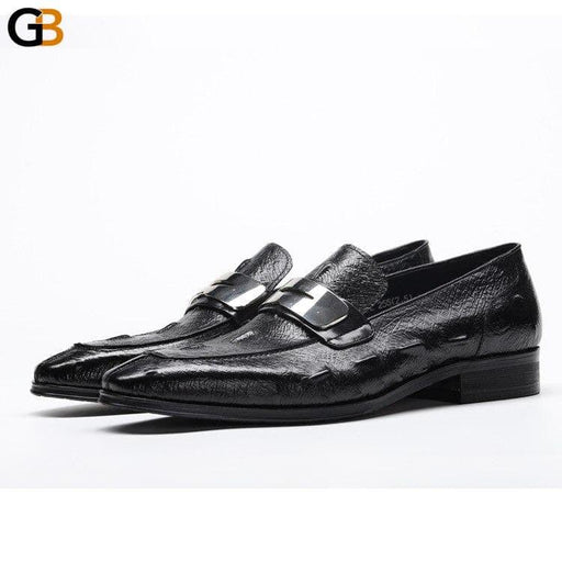 Mens Formal Shoes British Sequined Genuine Leather Dress Oxford Shoes Wedding Business Office - SolaceConnect.com