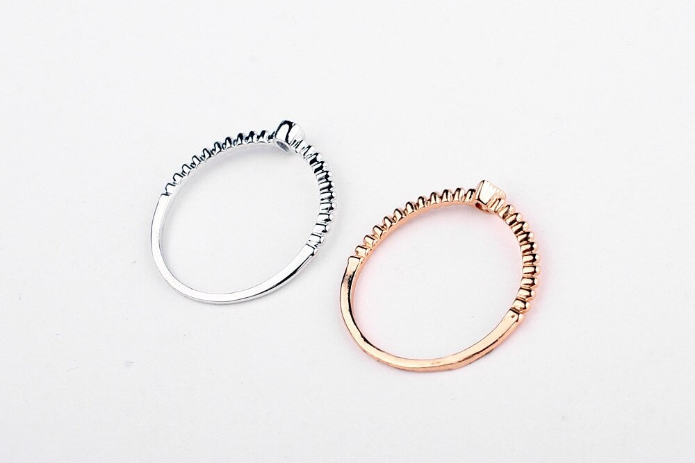 Women's Real Austrian Crystal Rose Gold Zirconia Water Drop Simple Rings - SolaceConnect.com