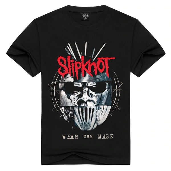 Summer Rock Unisex Fashion Slipknot Print Loose T-shirt Tops Tees - SolaceConnect.com