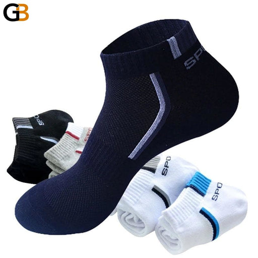 5 Pairs Per Lot Men's Stretchy Shaping Short Socks Suit for All Season - SolaceConnect.com