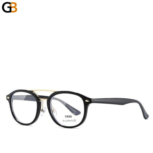 Unisex Tr90 Blue Light Blocking Round Double Plastic Titanium Glasses - SolaceConnect.com