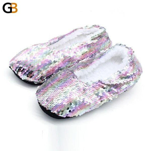 Free Size Bling Mix Colors Plush Slipper Shoes Indoor Women Slippers Soft Bottom Home Slippers Shoes - SolaceConnect.com