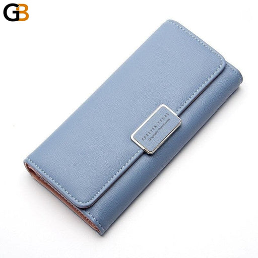 Luxury Fashion Women's Long Wallet with Card Holder for Passport and Coin - SolaceConnect.com