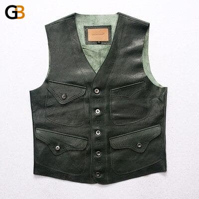 1951 Read Description! Asian size vest men's sheep leather vest mens sheep skin vest 4 colours - SolaceConnect.com