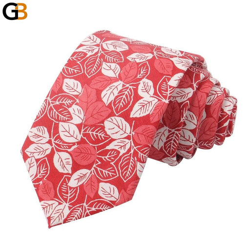 Floral Print Tie For Men Women Skinny Cotton Neck Tie For Wedding Business Casual Fashion Neckties - SolaceConnect.com