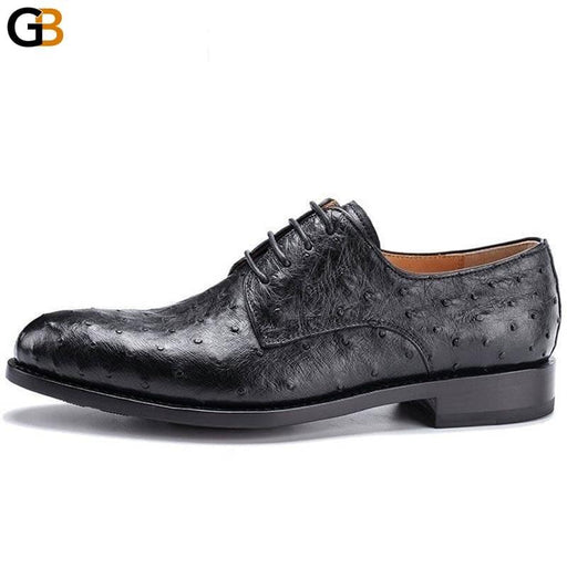 Men Business Italian Leather Shoes Luxury Casual Party Wedding Formal Shoes Pointed Toe Lace Up - SolaceConnect.com