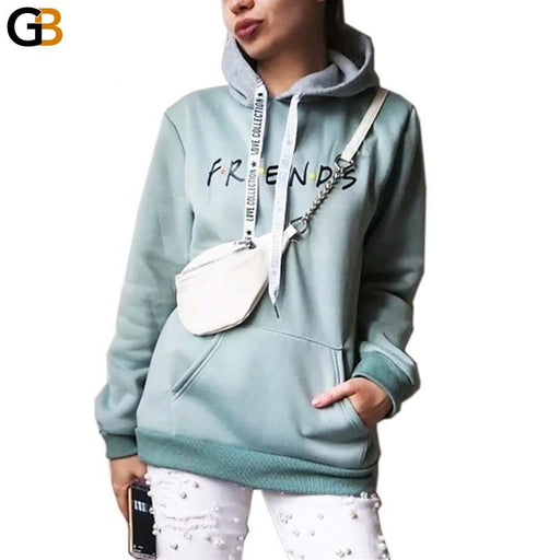 Crew Neck and Harajuku Printing Hoody Sweatshirts for Women's Clothing - SolaceConnect.com