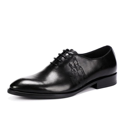 Men's Genuine Leather Oxford Wedding Dress Shoes with a Lace up Closure - SolaceConnect.com
