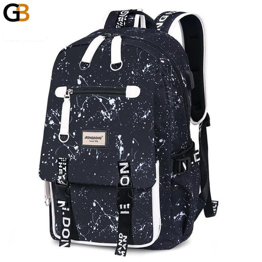 Waterproof Printed Large Laptop Backpack for Men & School Students - SolaceConnect.com