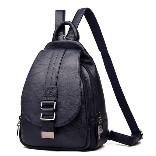 3-in-1 Women's Leather Casual Backpacks for Travel and School - SolaceConnect.com