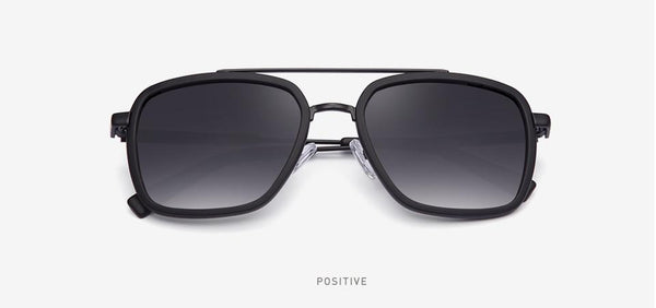Men's Eyewear Classic Design Polarized Stainless Square Driving Sunglasses - SolaceConnect.com