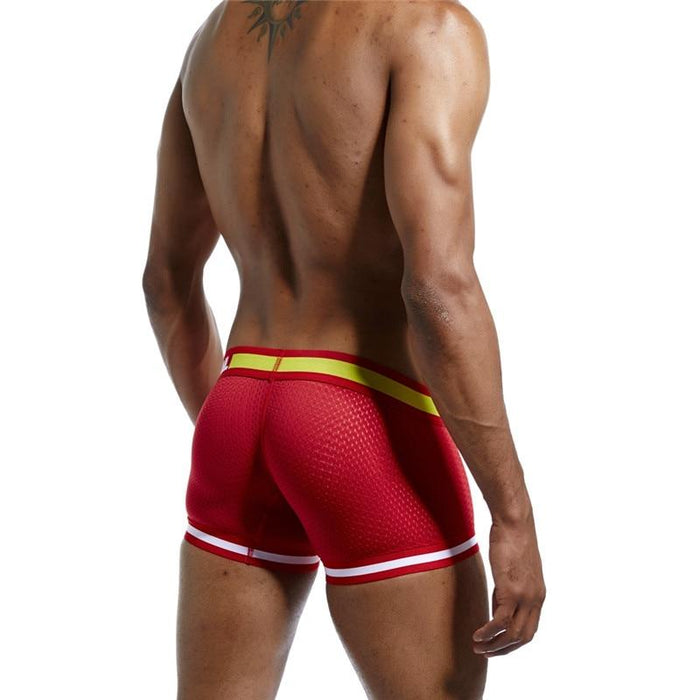 Men's Cotton Solid Sexy Mesh U Pouch Boxer Shorts Trunks Underpants - SolaceConnect.com
