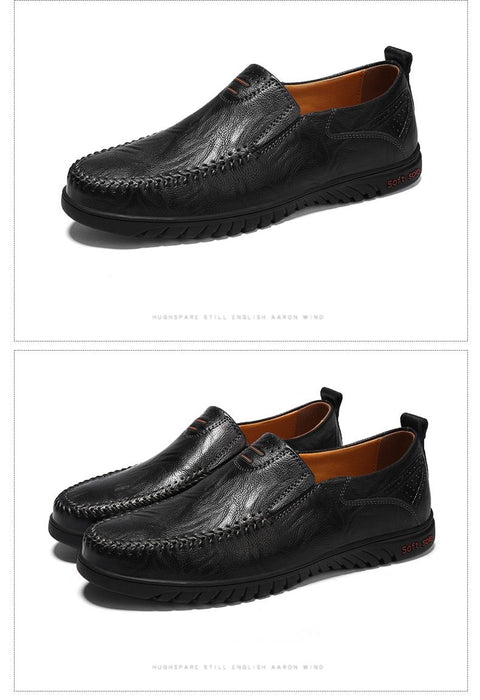 DEKABR Men Shoes Genuine leather Comfortable Men Casual Shoes Footwear Slip On Lazy Shoes - SolaceConnect.com