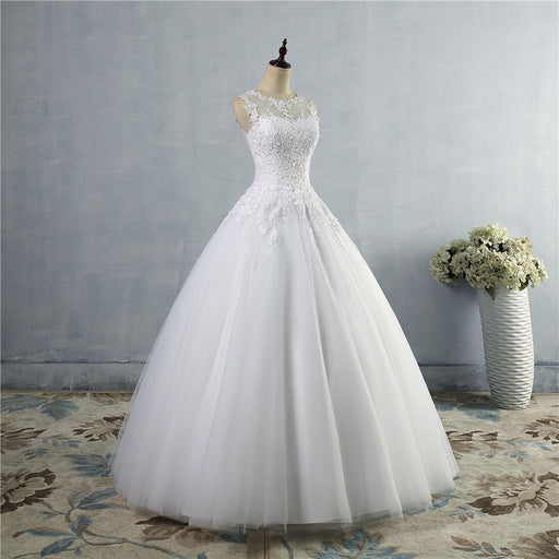Plus Size Lace Up Back Corset Wedding Dress for Brides Custom Made Maxi - SolaceConnect.com