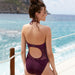 Sexy Women's Solid Push Up Monokini Bodysuit Beach Wear One Piece Swimsuit - SolaceConnect.com