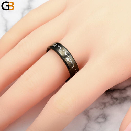 316 Stainless Steel Rings Fashion Zircon Jewelry for women men Party Birthday lovers Heart anel - SolaceConnect.com