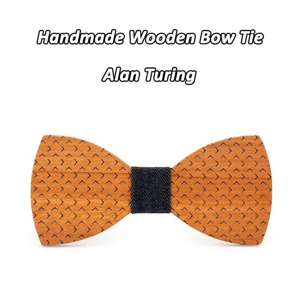 Men's Multicolor Dot Butterfly Wooden Bowties for Formal Party Apparel - SolaceConnect.com
