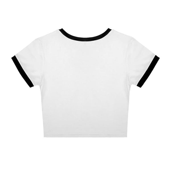 Summer Punk Women's Casual Printed Short Sleeves O-Neck Short T-Shirts Tees - SolaceConnect.com