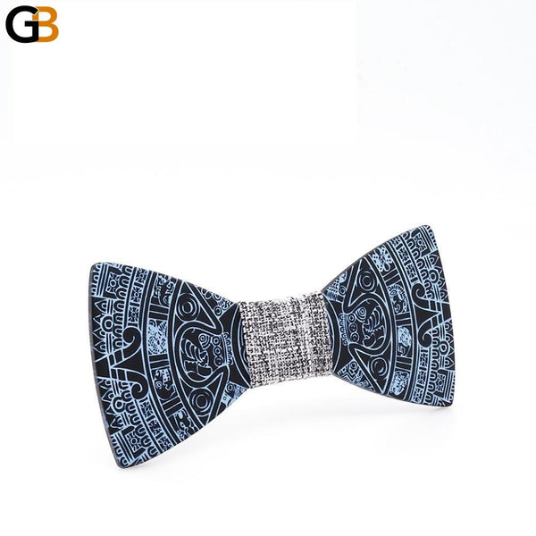 Unisex Novelty Printing Fashion Handmade Wooden Wedding Gravata Bowties - SolaceConnect.com