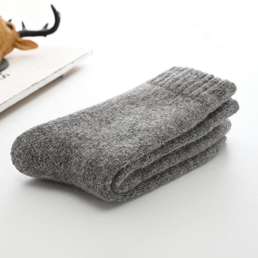 Super Thicker Solid Socks Merino Wool Rabbit Socks Against Cold Snow Russia Winter Warm Funny - SolaceConnect.com