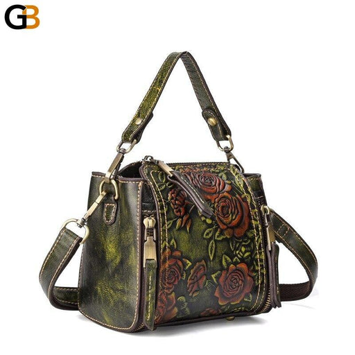 Genuine Leather Women's Top Handle Handbag Crossbody High Quality Tote - SolaceConnect.com