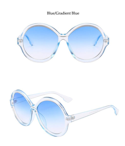 Vintage Sunglasses Women 2019 Design Black Round Sunglasses Luxury Brand 90s Big Sun Glasses - SolaceConnect.com