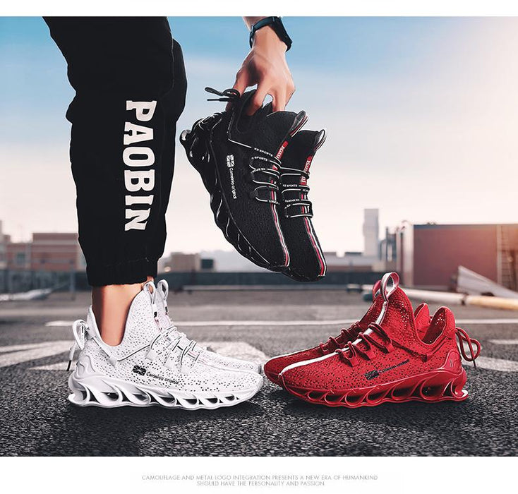 SENTA Running Shoes Blade Cushioning Sneakers for Men Breathable Sports Shoes Outdoor Athletic - SolaceConnect.com