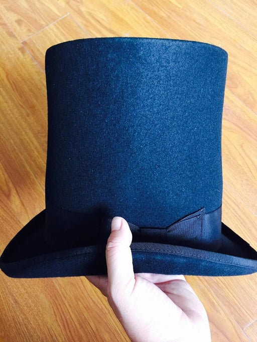 Extra High Victorian Vintage Hat Traditional Steampunk Mad Hatter Fedora - SolaceConnect.com
